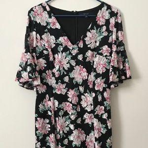 RACHEL Rachel Roy Dresses - 3/4 sleeve, black, floral, (L) Rachel Roy dress